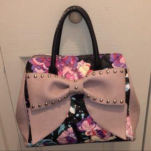 Betsey Johnson floral shoulder bag satchel